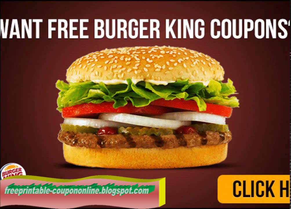 burger king free printable coupons