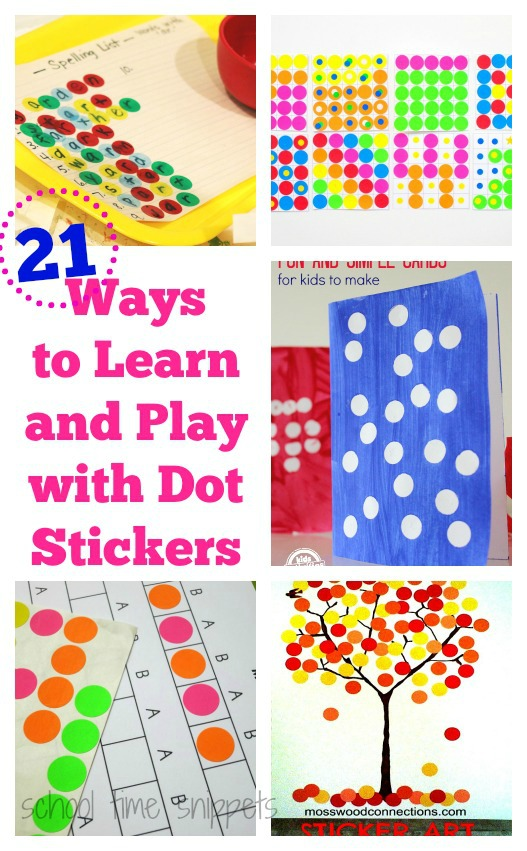 dot sticker activities at School Time Snippets
