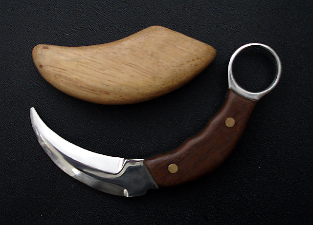 Armas do Kali - Karambit artesanal feito por estudante Kali MG
