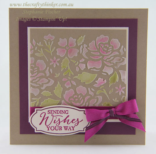 Detailed Floral Thinlits, Embossing Paste, Stencilling, #thecraftythinker, Stampin' Up Australia Demonstrator, Stephanie Fischer, Sydney NSW