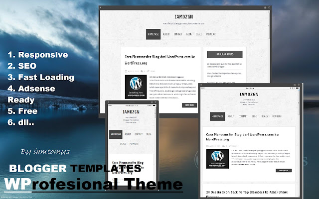 Free Template Blogger Professional, Untuk Blog Personal Dan Business