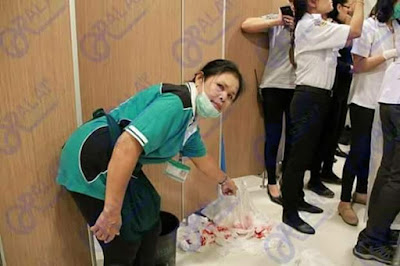 Photos: Newborn baby boy found dumped in garbage bin of a shopping mall toilets