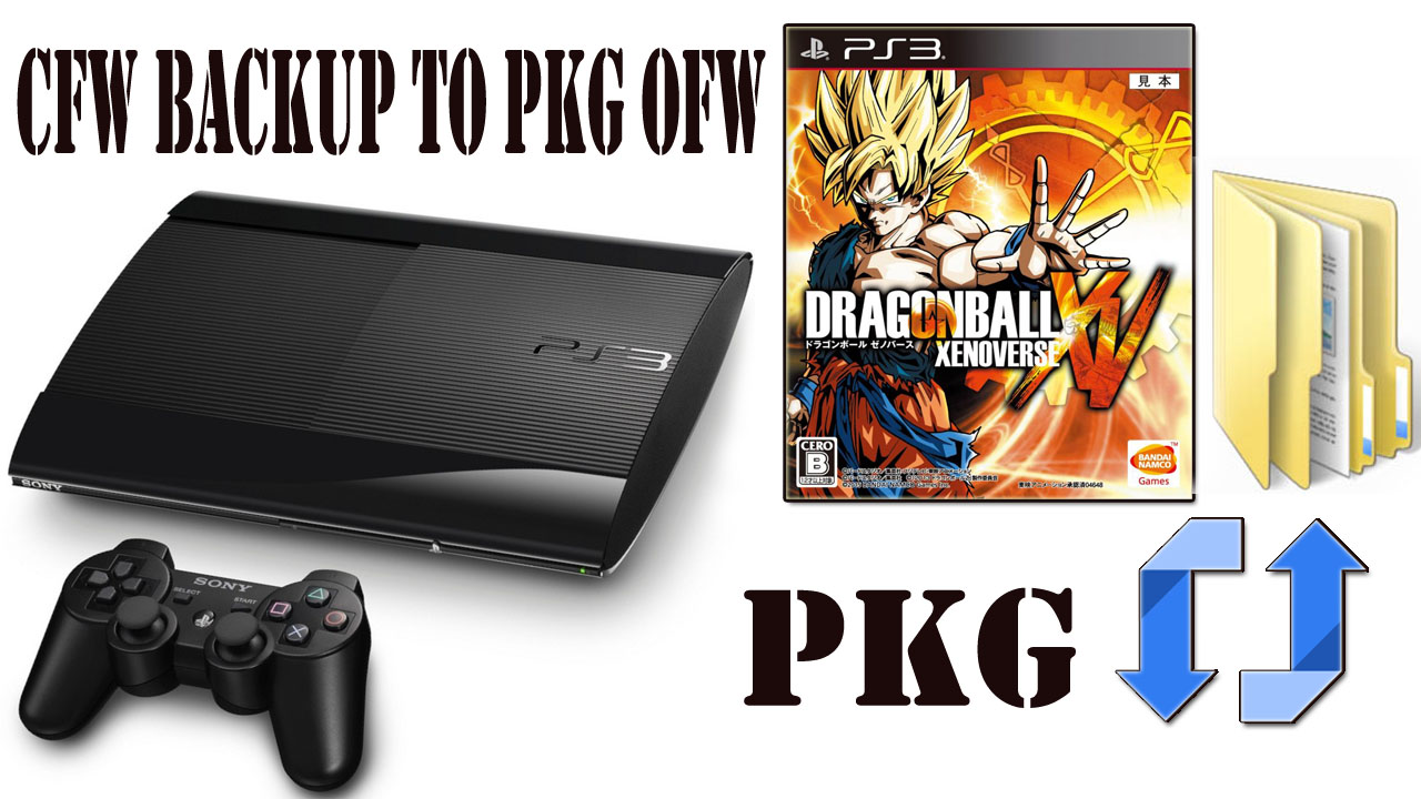 How To Convert PS3 CFW Backup To PKG OFW For PS3 Super Slim / Slim