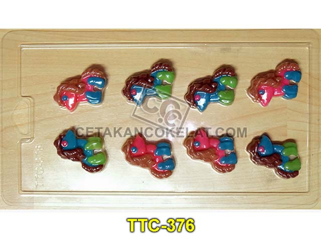cetakan coklat cokelat TTC376 mold mould praline kuda pony little pony chocolate #cetakancoklat