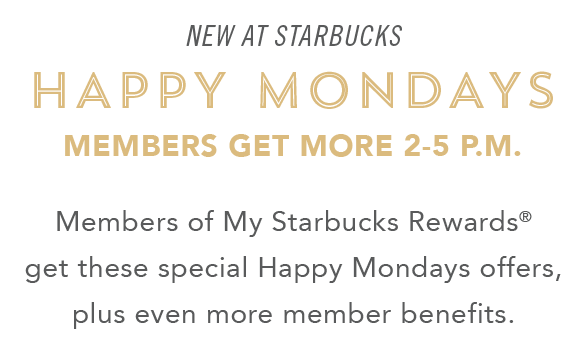 Gnome Garden: Janie Girl: Starbucks: TGIM Special Offers Every Monday In