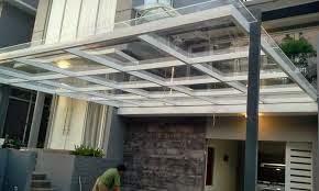 gambar kanopi bahan baja ringan 5 desain model teras depan rumah type 36