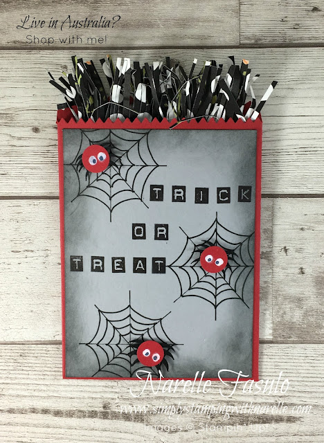 Make these super cute treat bags with just a couple of supplies that you can get from here - https://www3.stampinup.com/ecweb/default.aspx?dbwsdemoid=4008228 -  Simply Stamping with Narelle