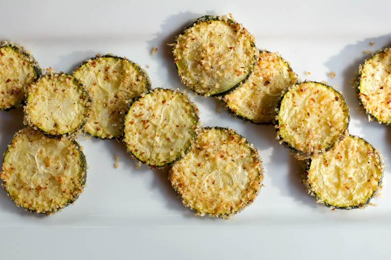 Baked Parmesan-Romano Zucchini Crisps    A Less Processed Life