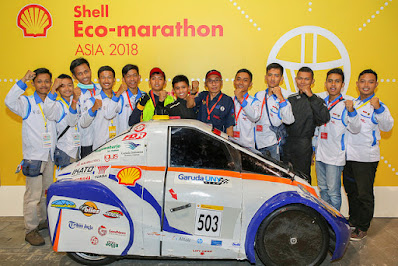 Mahasiswa UNY  juara di Shell Eco Marathon 2018