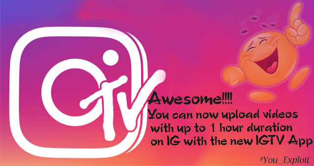 Aesome!!!! You can now upload videos with up to 1 hour duration on IG with the new IGTV App