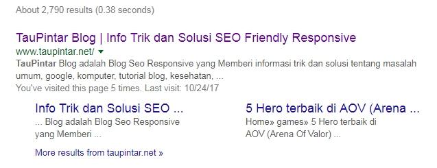 Cara Mudah Mendapatkan Google Sitelink