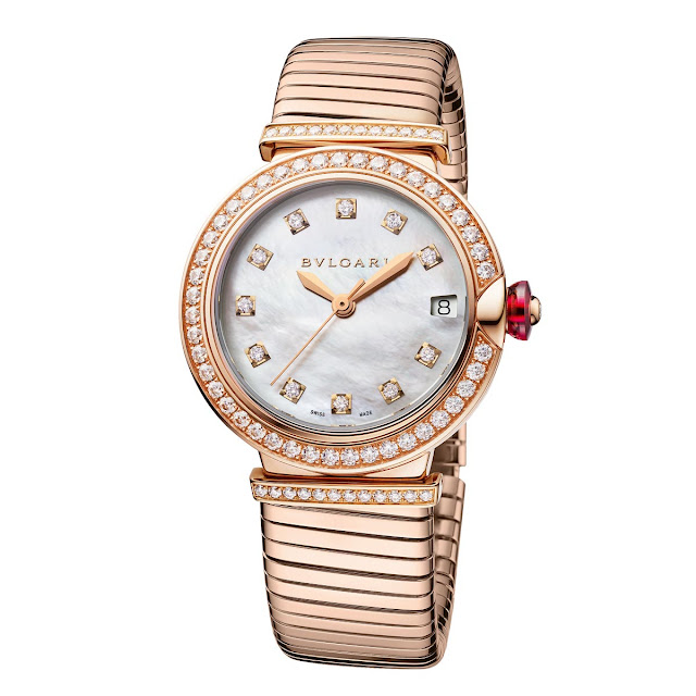 Bulgari Lucea Tubogas with diamond-set bezel