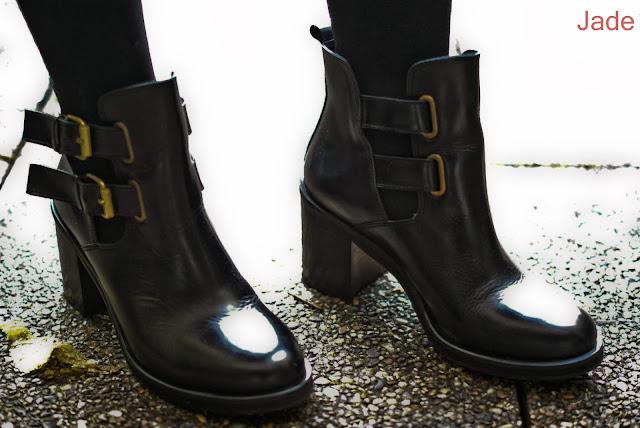 Boots à talon et à boucles Jonak noir