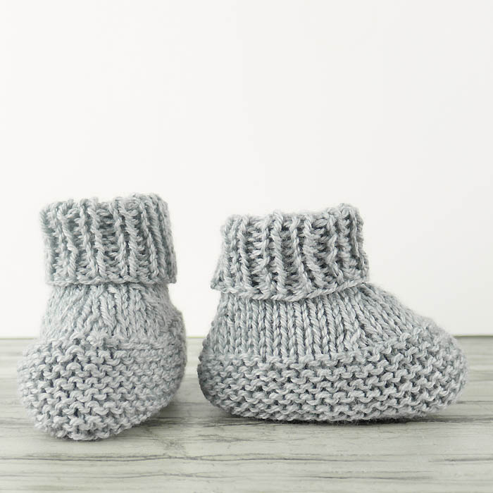 Flat Knit Booties Free Knitting Pattern