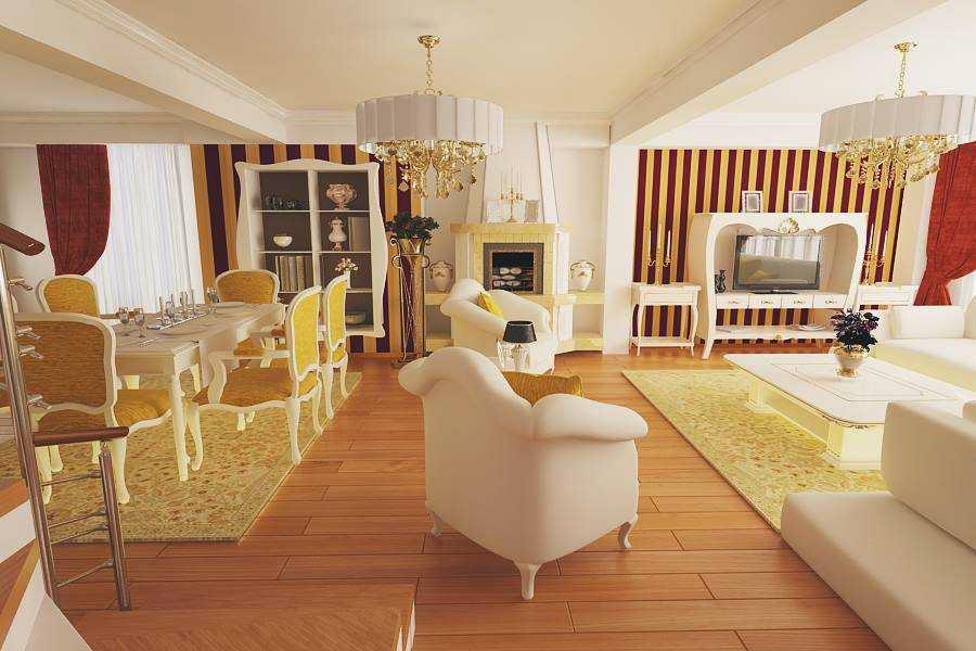Design interior vile de lux mobila clasica Bucuresti - Design interior living clasic