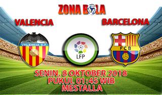 Prediksi Bola Valencia vs Barcelona 8 Oktober 2018