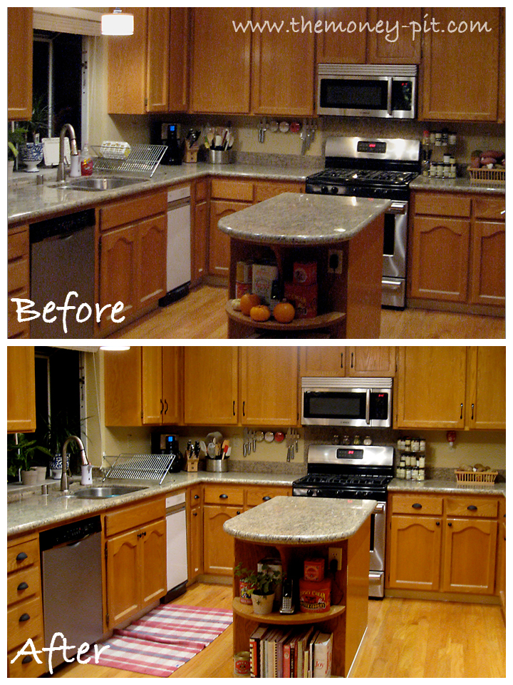how to update honey oak kitchen cabinets the moneypit 2 0 was built in 1992 and this is what the 17418