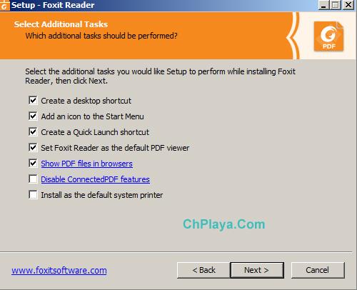Hướng dẫn cài đặt Foxit Reader trên PC d