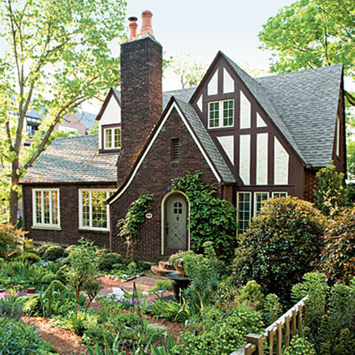 Cottage flavor a cottage garden tour and gardening tips Tudor style fence