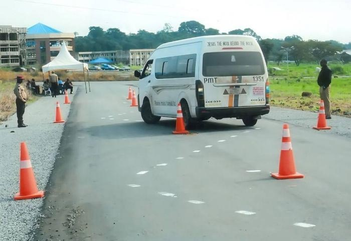 Photos: Peace Mass Transit conducts tests for drivers following rampant road crashes