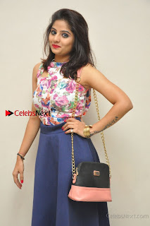 Kannada Actress Mahi Rajput Pos in Floral Printed Blouse at Premam Short Film Preview Press Meet  0016.jpg