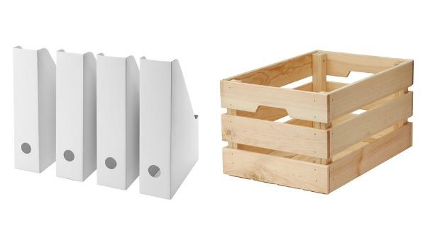 Inexpensive IKEA storage boxes