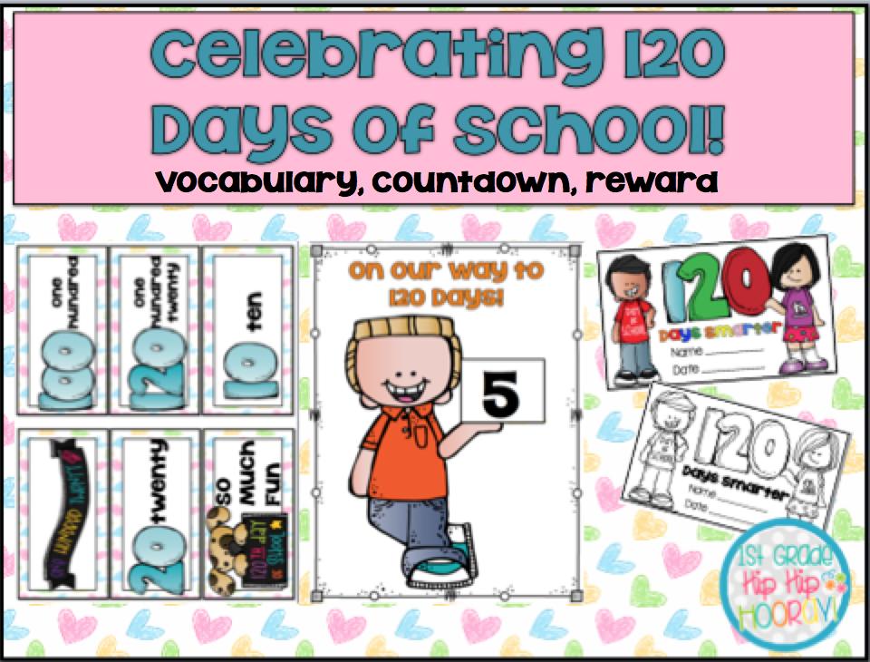 1st Grade Hip Hip Hooray 120 Days Of School Cool