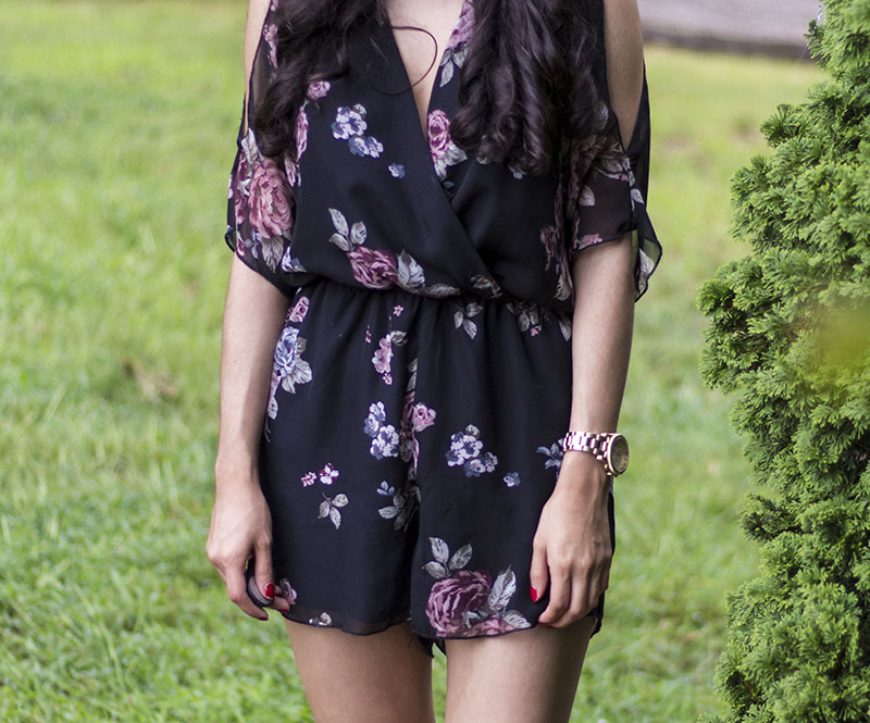 cute floral romper outfit