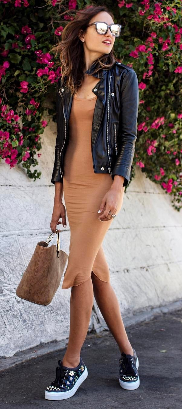 casual style obsession: jacket + dress