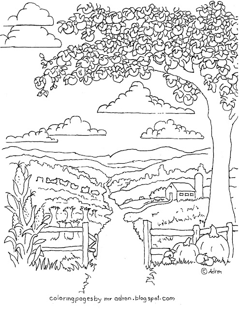 Coloring Pages for Kids by Mr. Adron: Printable Autumn