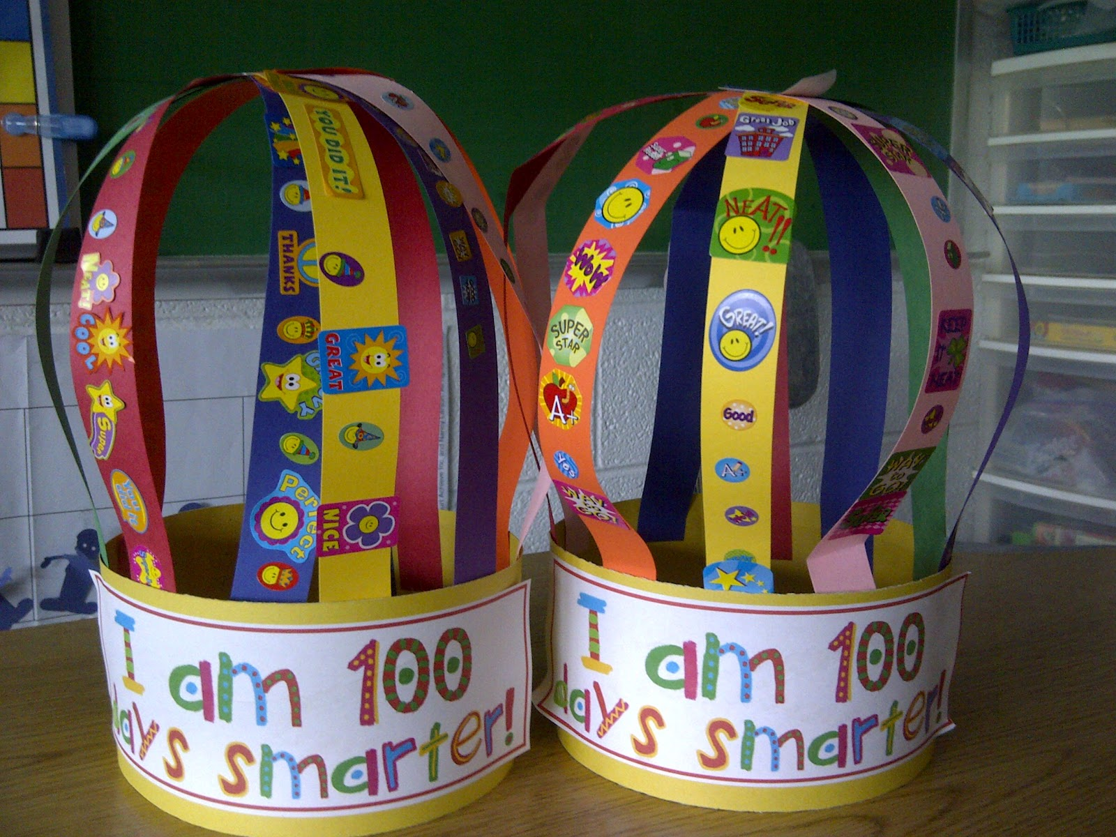 We Made These Awesome Hats They Placed 10 Stickers On Strips Of Paper And Attached To The Headband I Got This Idea Printable From Mrs Morrow S