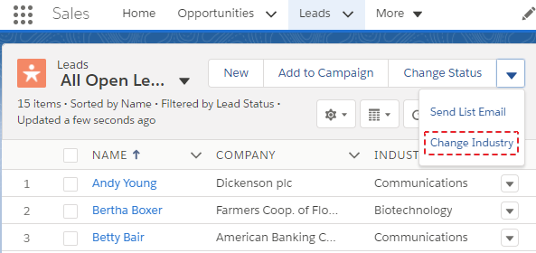 SimplySfdc com: Salesforce: List View Mass Action in Lightning