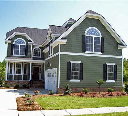 Exterior House Paint Color Ideas: Sage Green Exterior House Color Ideas