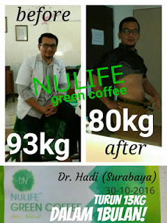 Amazing ! Dengan Green Coffee Turun 13 Kg Dalam 1 Bulan
