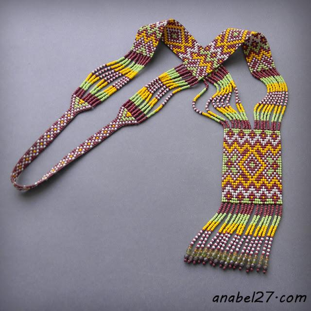 beadwork loom necklace beaded jewelry ethnic