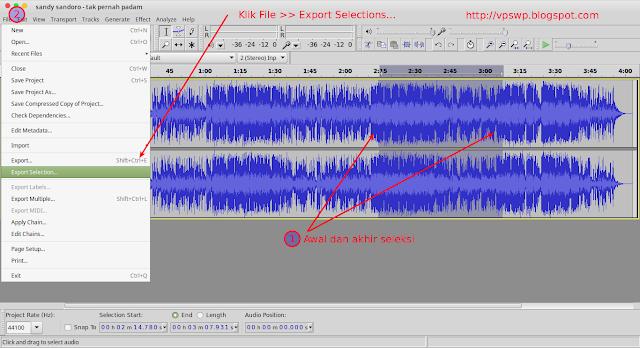 Cara Membuat Ringtone di Ubuntu Menggunakan Audacity cara potong lagu dengan audacity