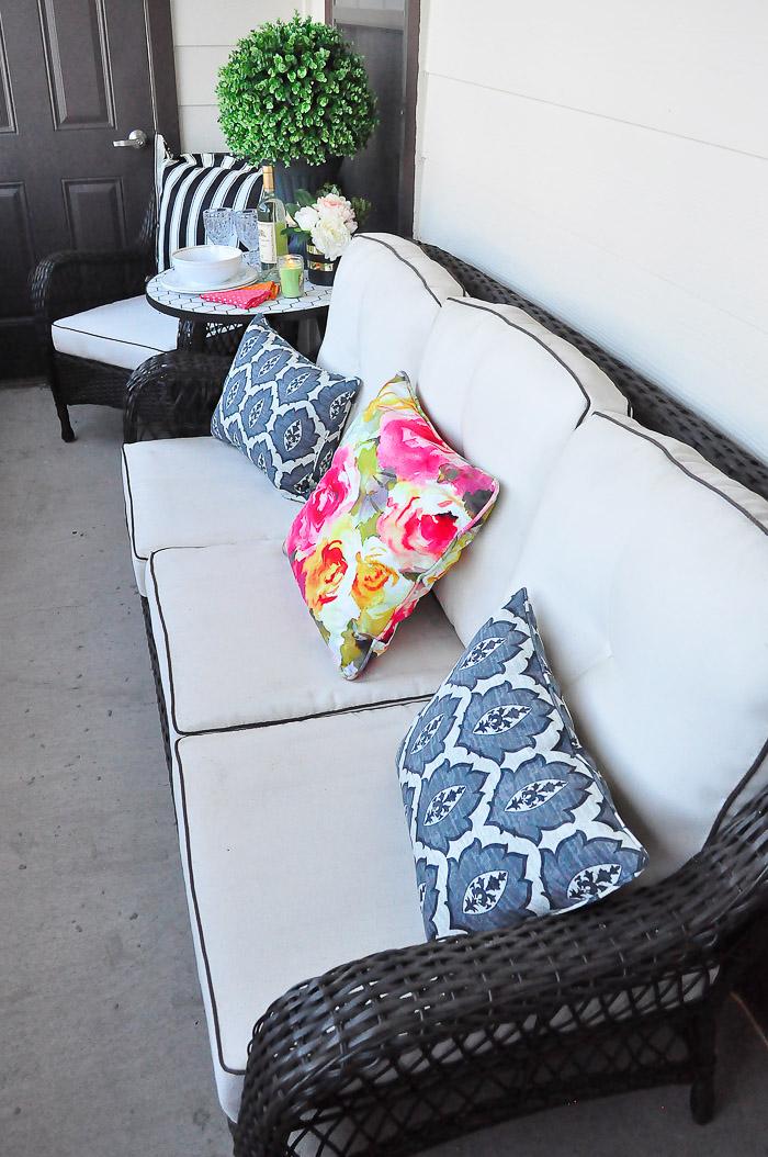 Apartment Patio Outdoor Decor Ideas | Monica Wants It