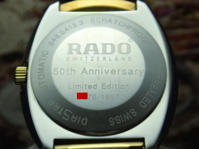 rado diastar 50th anniversary