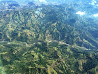 An aerial photograph of primary and secondary forest and agriculture fields on the Southern Pacific Coast of Costa Rica. (Credit: Angélica Almeyda Zambrano/Science Advances) Click to Enlarge.
