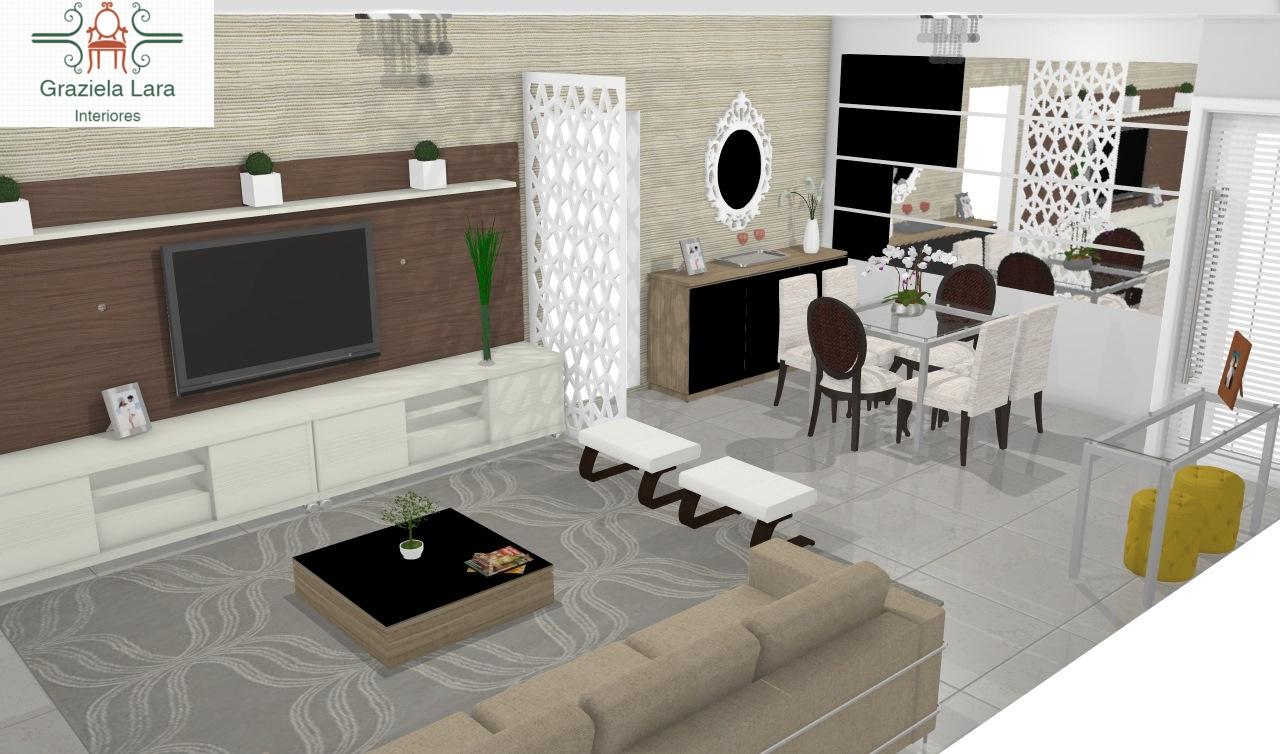 Construindo Minha Casa Clean Consultoria De Decora O Salas  -> Sala Com Sofa Cinza E Poltronas
