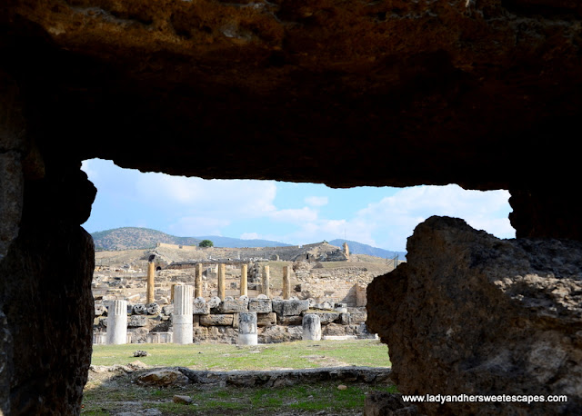 ancient columns in Hierapolis