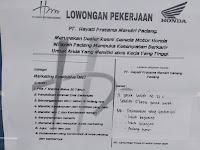 LOWONGAN KERJA MARKETING EXECUTIVE PADANG || PT Hayati Pratama Padang