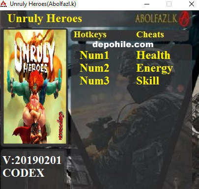 Unruly Heroes (PC) Oyunu Can,Enerji +3 Trainer Hilesi İndir 2019
