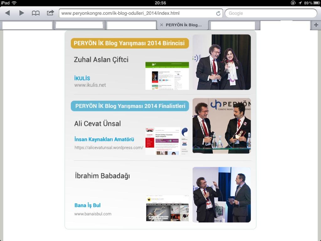 PERYON IK Blog Odulleri 2014 Kazananlar Belli Oldu