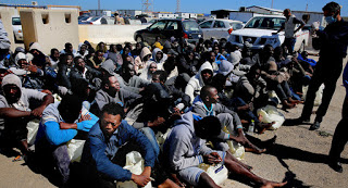 a migrant slave auction in Libya
