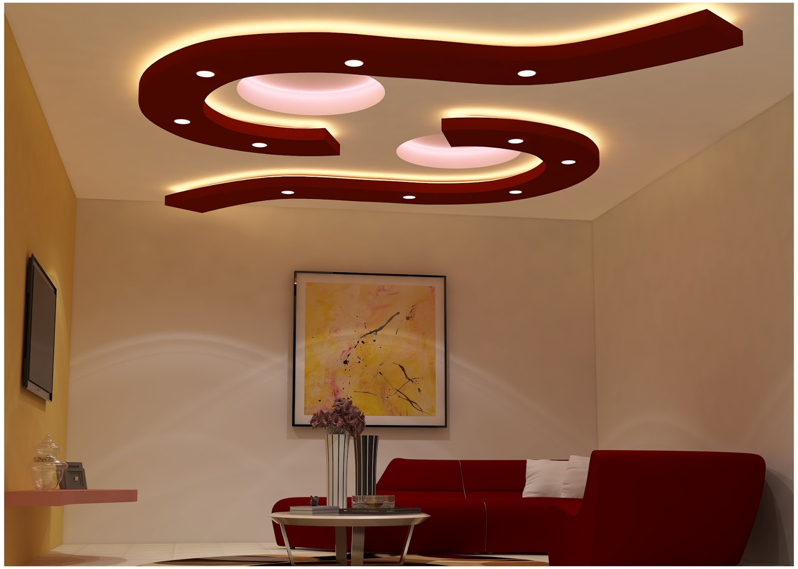 Pop Wall Design Photos : Latest plaster of paris designs pop false ceiling