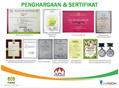Penghargaan Tiens