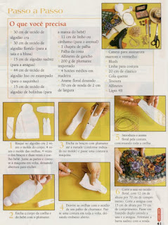 coelhakiki3 - Molde Coelhinha de tecido