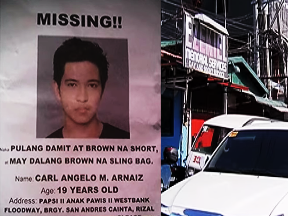 "After the killing of Raymant Siapo, a PWD (person with disability) , and Kian Delos Santos,17, another son of an OFW was killed in an alleged police operation. According to the police report, Carl Angelo Arnaiz, 19, boarded a taxi and declared a hold-up at C3 road, Caloocan. After he took the taxi driver's wallet, he hit the driver with a gun  and fled .The taxi driver sought the help of Caloocan police who was at that time patrolling the area. During the apprehension, Arnaiz traded gunfire with  PO1 Jeffrey Perez and PO1 Ricky Arquilita. Arnaiz was then killed. The police said that aside from empty cartridges of .38 and 9mm caliber firearms, they also recovered marijuana and shabu in his possession. However the Public Attorneys Office who made their own forensic investigation of Arnaiz's body are not convinced of the statement from the police.  Advertisements     Based on the autopsy conducted by PAO Chief Forensic Laboratory Service, Dr. Erwin Erfe, aside from four gunshot wounds on Carl Angelo's body,  they found signs of torture in Carl Angelo's body. ""Scratch marks are very deep showing that he was dragged. Signs of torture is also evident , he has handcuff marks on his right arm, his eyes are swelling."" Dr. Erfe also said that there was no indication that he fired gunshots. The very disturbing fact is that , according to forensics, the trajectory of the bullets indicates that he was kneeling or lying down when the shots were made. Based on the gunshots, the shots that made by the police was not to disable but to surely kill him. PAO Chief Persida Rueda-Acosta said that they are going to file murder cases against the policemen involved.   Carl Angelo's parents still could not believe that it would happen to their beloved son. His mother, an OFW from the Middle East immediately went home after learning about the tragic incident. According to them, Carl Angelo could not do what the police said he does. Carl Angelo was an elementary school valedictorian, graduated from a science high school and even made it to be admitted in UP Diliman, it felt like a horrible nightmare learning that their son was involved in such crime.   Meanwhile, the League of Filipino Students condemned the latest killing involving a student by police officers, saying in a statement that it instills fear among the students when the entity that vows to protect the people are the ones killing them.  Carl Angelo Arnaiz was reported missing on August 17 and 10 days later he was found dead at a morgue in Caloocan City sustaining fatal multiple gunshot wounds.   NCRPO Chief oscar albayalde promised to conduct an investigation on the killing of the 19-year-old OFWs son.   Source: ABS-CBN News, GMA News Sponsored Links Read More:  Every OFWs has various reasons why they decided to leave their families and work abroad but there is one common goal, to give their family a decent and better future, that they think, would not be possible if they were not given the opportunity to work outside the country. With the country's lack of job and income generating opportunities and investments during the past regimes, contractualization, age limit in applying for the jobs, most Filipinos resort to applying for overseas jobs even if it means leaving your family for years. the only thing that gets the OFW going is a thought that with a slightly bigger salary, they could send their children to school, build their dream house and make thier family back home happy.  But what if your beloved son or daughter who is in the center of the equilibrium that balances your life to keep you going as an OFW  suddenly vanished?   Luzviminda Siapo is an OFW in Kuwait who, like other OFWs has a huge dream for her son, Raymart, 19. As a single mom, she raised Raymart single-handedly, exerting every effort to give him the best things a mother could ever give to a son. Two years ago, she went to Kuwait to work as a household service worker in a Kuwaiti family. Armed with a dream to give him the best future she endured months and years without him on her side, waiting for the day when they can finally embrace each other again.  On March 29, Luzviminda received a news that  any mother would not want to hear. Something that happens only in a nightmare. A group of masked men abducted her child, told to run and when he refused to run because he couldn't --he has a set of club feet, they shot him dead.  They found him the next day along with 2 sachets of alleged ""shabu"". The murder victim who couldn't run away.   (From Howie Severino's Social media post)   ""It was the message every mother dreads, but this mom was working in an Arab household in Kuwait.  OFW Luzviminda Siapo's employer didn't want to believe that Luzviminda's son Raymart had just been killed.  Luzviminda wailed and knelt and begged, and still her employer thought she was lying to get out of her contract and go home. Only when her boss was shown online news video about 19-year-old Raymart's brutal murder in Navotas did the employer let her go.  When she arrived last Monday, the police had little information to share. But the mother steeled herself and began probing the murder herself, interviewing witnesses and assembling the savage pieces of a puzzle.  Her son had an argument with a neighbor. Soon the son's name was found on the community blotter as a drug suspect.  Men in bonnets over their faces came to his neighborhood and took him away.  Witnesses say he was last seen at night being brought by motorcycle to a nearby bridge, and being told to get down.  ""Takbo, takbo!"" his captors taunted. Raymart, who was supposed to start a new job the next day, didn't run and just sat down. One of the assassins, called a ""birador"" by the police, shot him below the chin and on the side of his head.  Raymart couldn't run even if he wanted to – he was born with two club feet, a congenital deformity that made him appear to be walking on the sides of his feet. He was a Person With Disability.  Luzviminda showed my colleagues and me her last text conversation with Raymart on her cell phone. It was about the birth certificate he needed for his new job.  One of the very last messages from Raymart was simply, ""salamat ma,"" followed by a smiling selfie."" When Luzviminda learned about what happened to her son, she begged her employer to allow her to go home. Her employer was skeptical at first, saying that Luzviminda was just only making up stories for them to allow her to go home and get away with her contract. The HSW begged tirelessly. She wailed and fall on her knees and cried. Not after she has shown her employer about the news that her son was indeed murdered, they finally allowed her to go after she fell on her knees and kissed the employers toes.At the airport, the only word that came out from her lips was ""Kuya"" then she started to cry on her brother's arms letting go of her every pain.    Searching for answers, she first went to the barangay hall to confront the authorities. ""All it took was a false accusation for these people to murder my son. They did not bother to investigate, they did not bother to verify. They just killed him."" Pointing out that her son was reportedly has a heated argument with a neighbor, the next day he was already on the community blotter as a drug suspect and that's why he was killed.Right after  they left the headquarters, she finally met her lifeless son in a coffin. Tears rolling down on her cheeks as she hugged the coffin and whispered: ""Son, Mama's home!""  More than anything, Luzviminda wants justice. Justice for his son that was about to start a new job the day after he was abducted and ruthlessly killed. For her who wishes nothing more but to give her beloved son a better future. For other OFWs who suffered the same fate. Justice has to be served somehow. ""All it took was a false accusation for these people to murder my son. They did not bother to investigate, they did not bother to verify. They just killed him."" Pointing out that her son was reportedly has a heated argument with a neighbor, the next day he was already on the community blotter as a drug suspect and that's why he was killed.  Grade 11 student, Kian Loyd Delos Santos was shot dead after allegedly resisted, drawn a gun and fired at the police operatives undergoing ""Oplan Galugad"" iin Barangay 160, Caloocan City. The operatives said they were forced to fight back but witnesses and CCTV footage are telling otherwise. The police said Kian suddenly ran upon confrontation. The police pursued him but the 17 year old kid drawn a gun and fired at them prompting the police to fire back and killed him. But in a CCTV footage, the police was seen dragging the  Kian.   ©2017 THOUGHTSKOTO"
