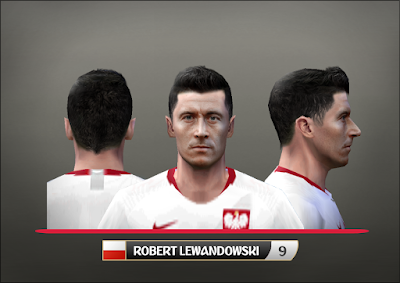 PES 6 Faces Robert Lewandowski by Alegor